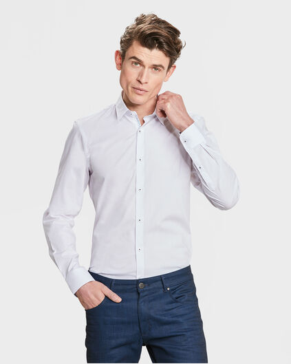 HEREN SLIM FIT STRETCH OVERHEMD Wit