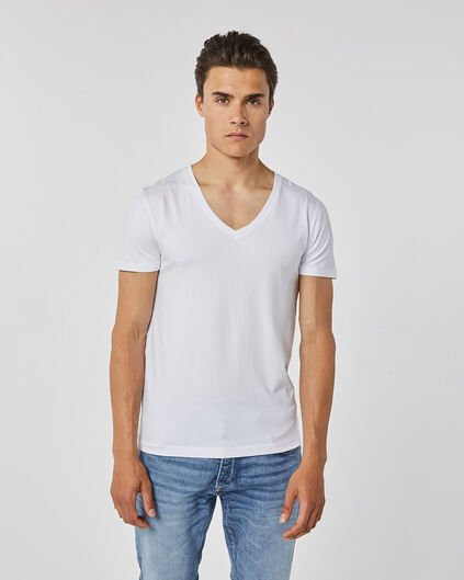 HEREN DEEP V-NECK T-SHIRT Wit