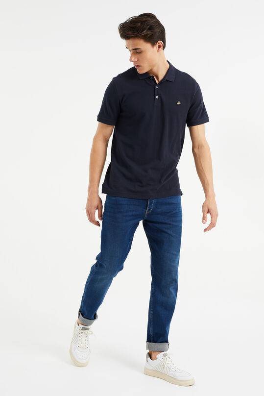Heren athletic fit jeans van jog denim Donkerblauw