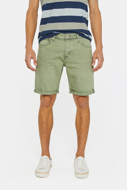 Heren denimshort Groen