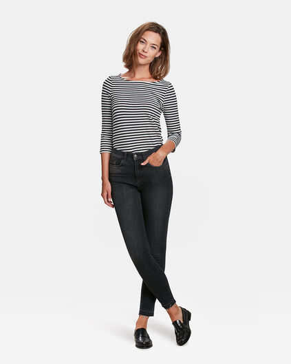 DAMES HIGH RISE SKINNY 360 STRETCH JEANS Zwart