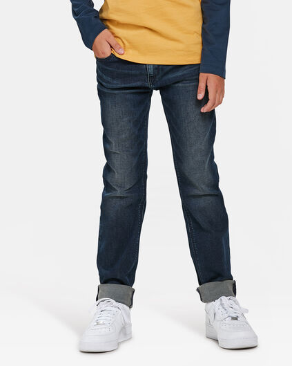 JONGENS SLIM FIT POWERSTRETCH JEANS Donkerblauw