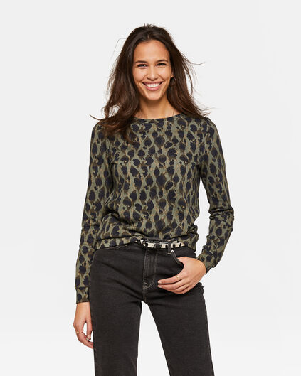 Dames dessin sweater Groen