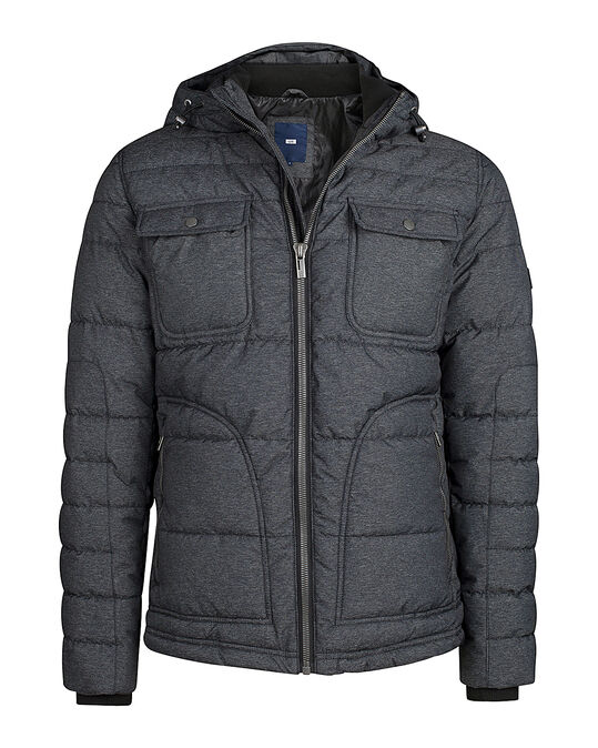 HEREN PUFFER JACKET Grijs
