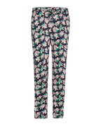 DAMES SLIM TAPERED PRINT JOGGER_DAMES SLIM TAPERED PRINT JOGGER, Zwart