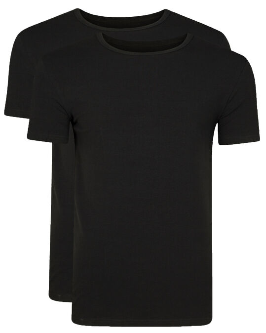 HEREN T-SHIRT 2-PACK Zwart