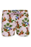 Girls Hawai short, Lichtroze