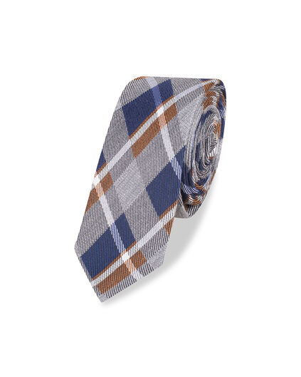 HEREN CHECKED TIE Donkerblauw