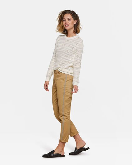 Dames slim tapered chino Beige