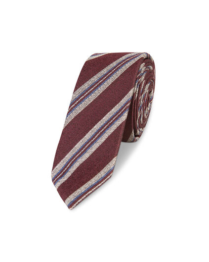 HEREN STRIPED DESSIN TIE Rood