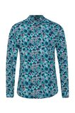 Heren slim fit overhemd met dessin, All-over print