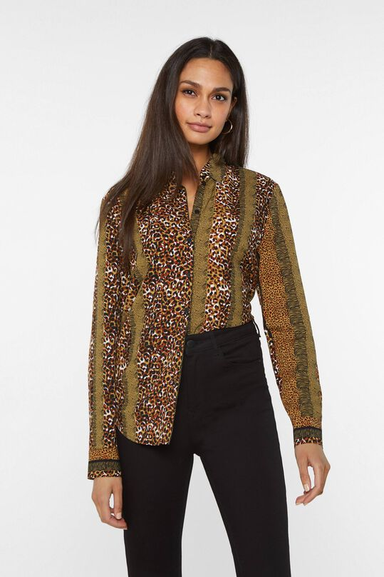 Dames blouse met dessinmix All-over print