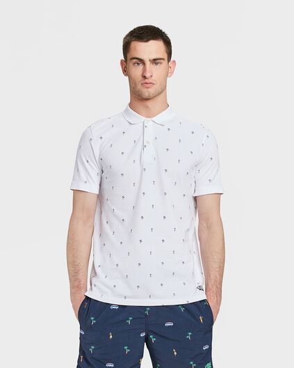 HEREN PRINT PIQUÉ POLO Wit