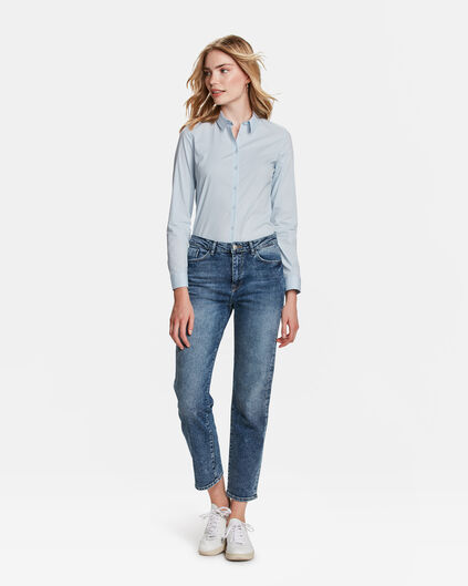DAMES HIGH RISE STRAIGHT COMFORT STRETCH JEANS Blauw