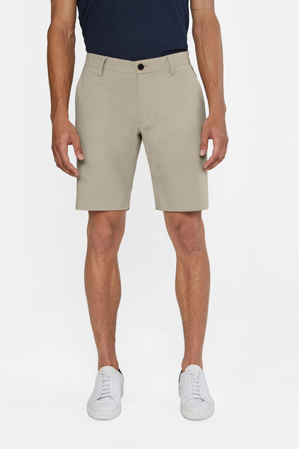 Heren hybrid lichtgewicht slim fit chinoshort Tech Beige