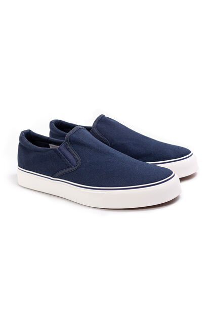 Heren slip-on sneakers Donkerblauw