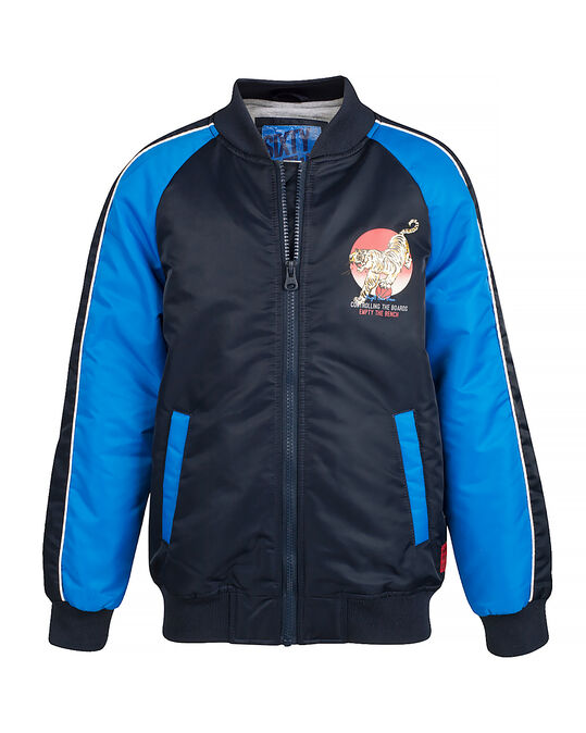 JONGENS BAD BOY TIGER BOMBER JACKET Donkerblauw