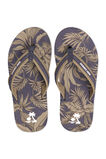 Jongens teenslippers met bladerendessin, All-over print