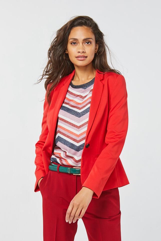 Dames regular fit blazer Rood