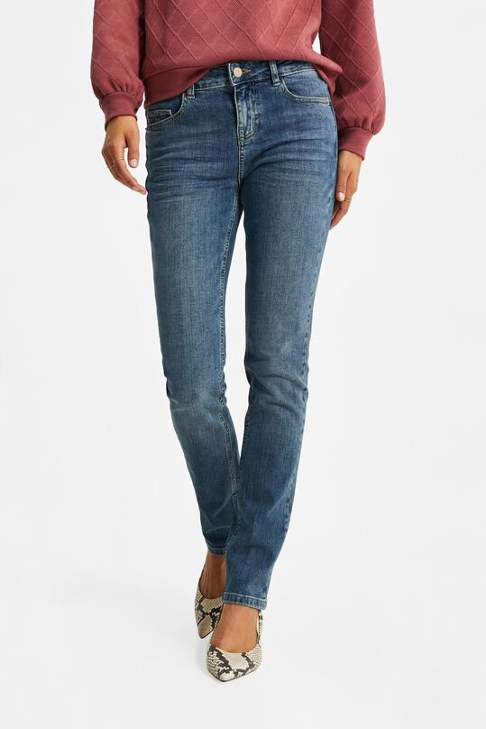 Dames mid rise slim jeans Blauw