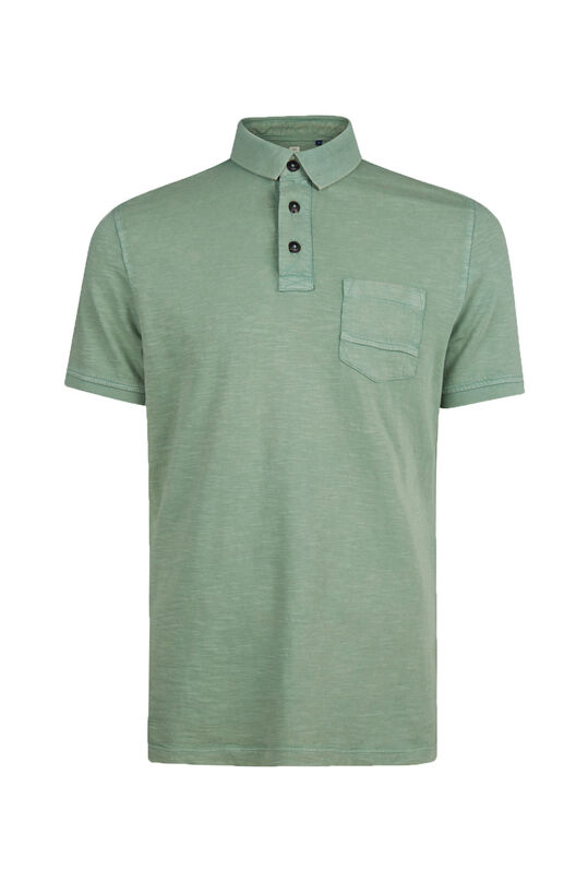 Heren acid wash polo Lichtgroen