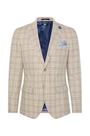 Heren slim fit geruite blazer Clinton_Heren slim fit geruite blazer Clinton, All-over print