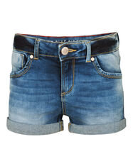 MEISJES REGULAR SUPER STRETCH SHORTS_MEISJES REGULAR SUPER STRETCH SHORTS, Donkerblauw