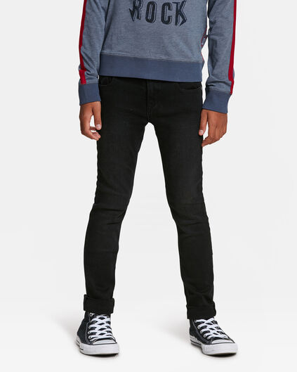 JONGENS SKINNY POWER STRETCH JEANS Zwart