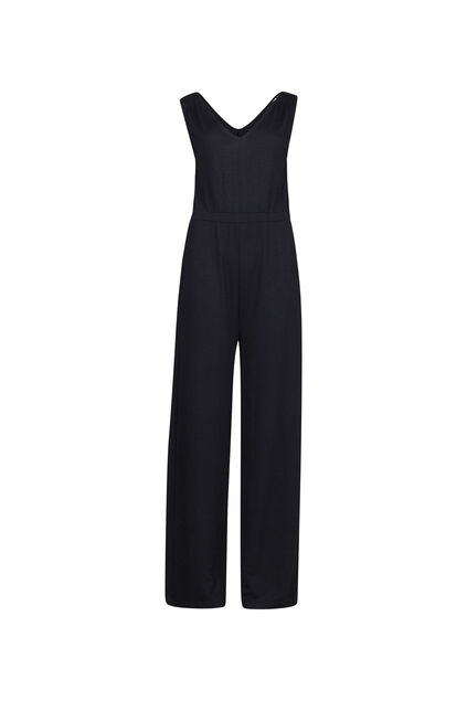 Dames wide leg jumpsuit Zwart
