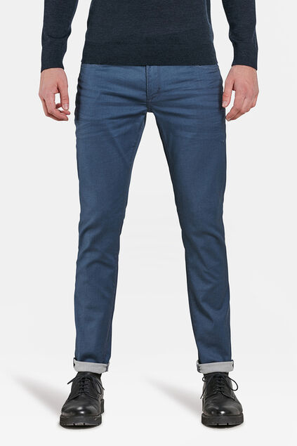 Heren slim tapered super stretch jeans Grijsblauw