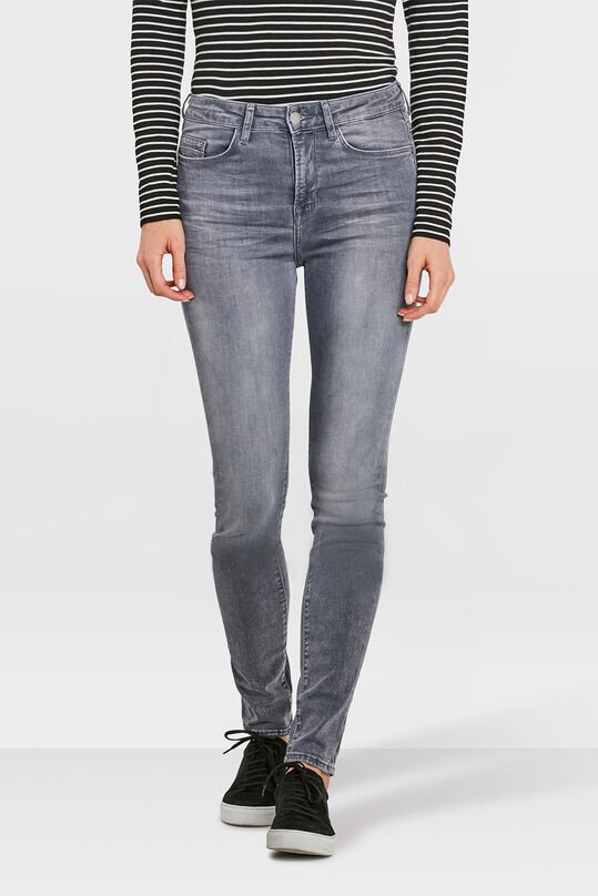 DAMES HIGH RISE SKINNY HIGH STRETCH JEANS Grijs