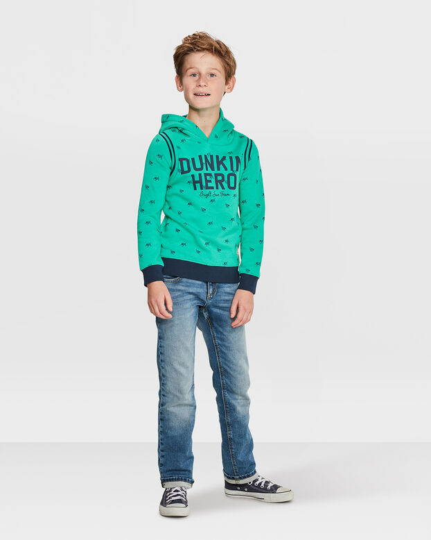 JONGENS HERO HOODED SWEATER Groen