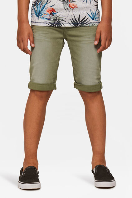 Jongens denim short Lichtgroen