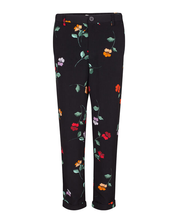 DAMES SLIM FIT BLOEMEN PRINT PANTALON All-over print