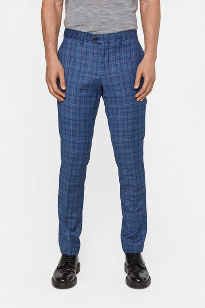 Heren slim fit geruite pantalon, Kelso All-over print