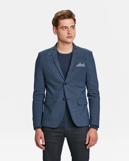 HEREN SKINNY FIT BLAZER Marineblauw