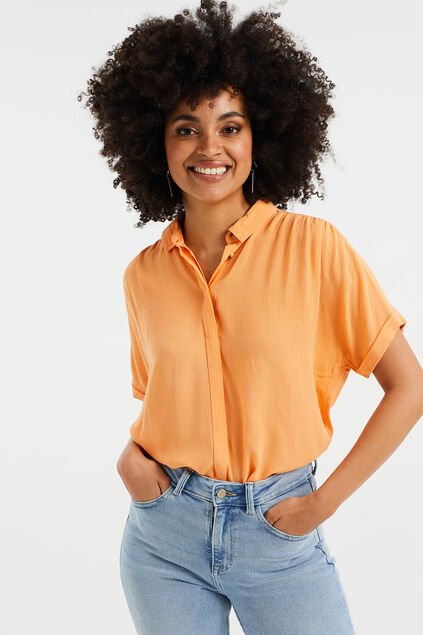 Dames relaxed fit blouse Oranje