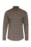 Heren slim fit luipaarddessin overhemd, All-over print