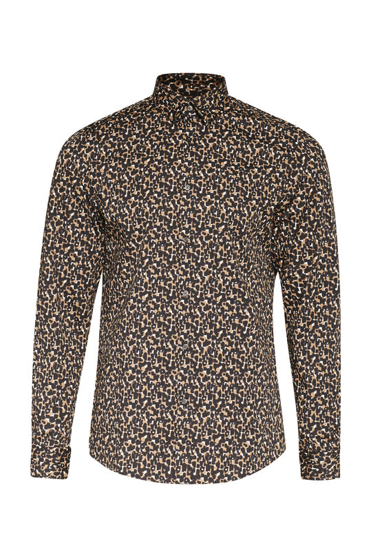 Heren slim fit luipaarddessin overhemd All-over print