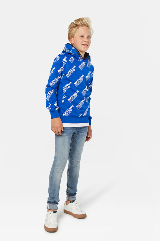 Jongens national crew capuchonsweater All-over print