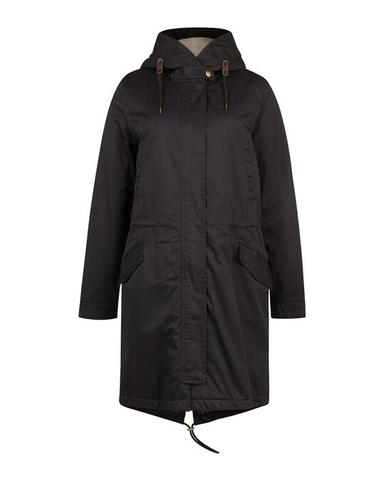 DAMES LONG PARKA Donkerblauw