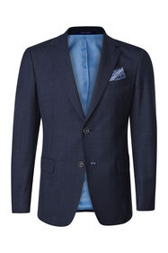 Heren slim fit blazer Tarente_Heren slim fit blazer Tarente, Marineblauw