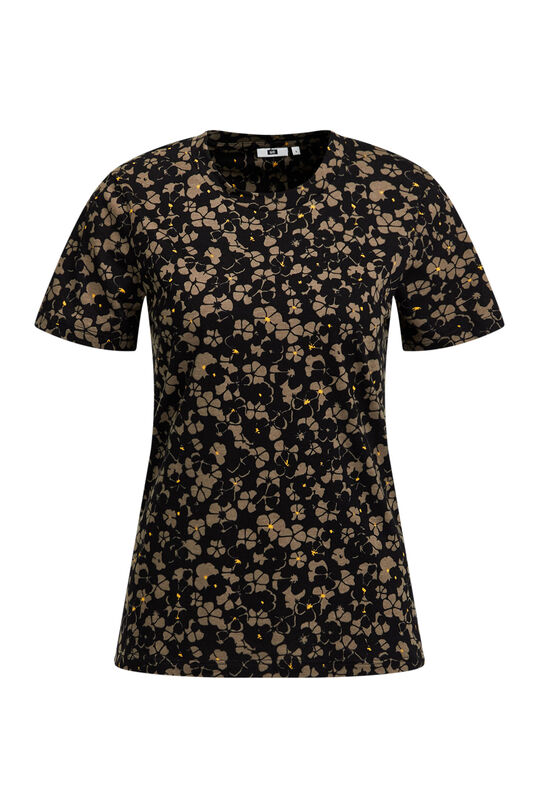 Dames T-shirt met bloemendessin All-over print