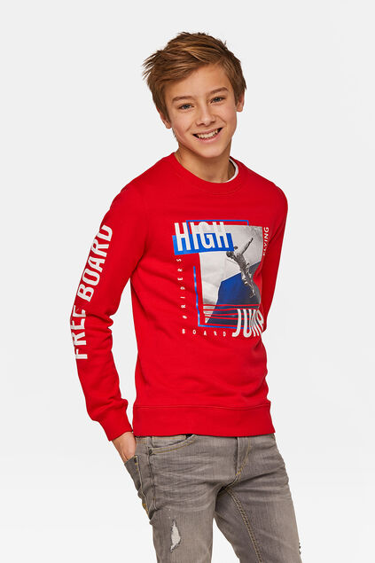 Jongens high jump sweater Rood