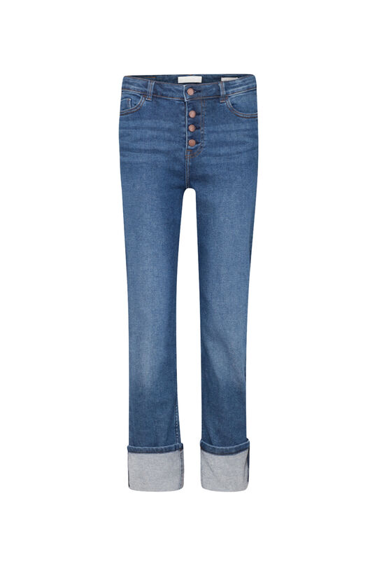 Dames high rise straight leg jeans Blauw