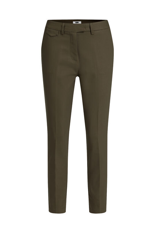 Dames slim fit chino Olijfgroen