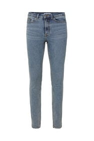 Dames high rise skinny jeans_Dames high rise skinny jeans, Grijsblauw