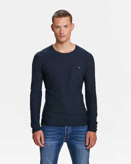 HEREN BLUE RIDGE TRUI Marineblauw