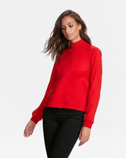 DAMES SMOCK TOP Felrood