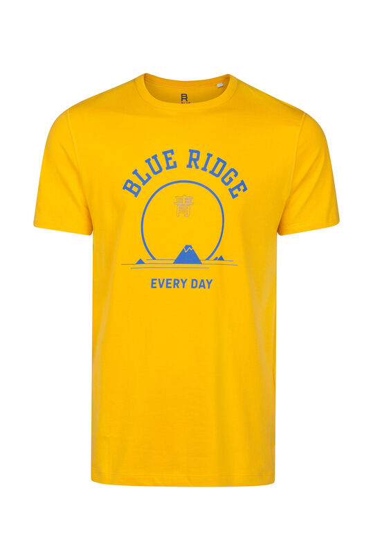 Heren Blue Ridge T-shirt Mosterdgeel
